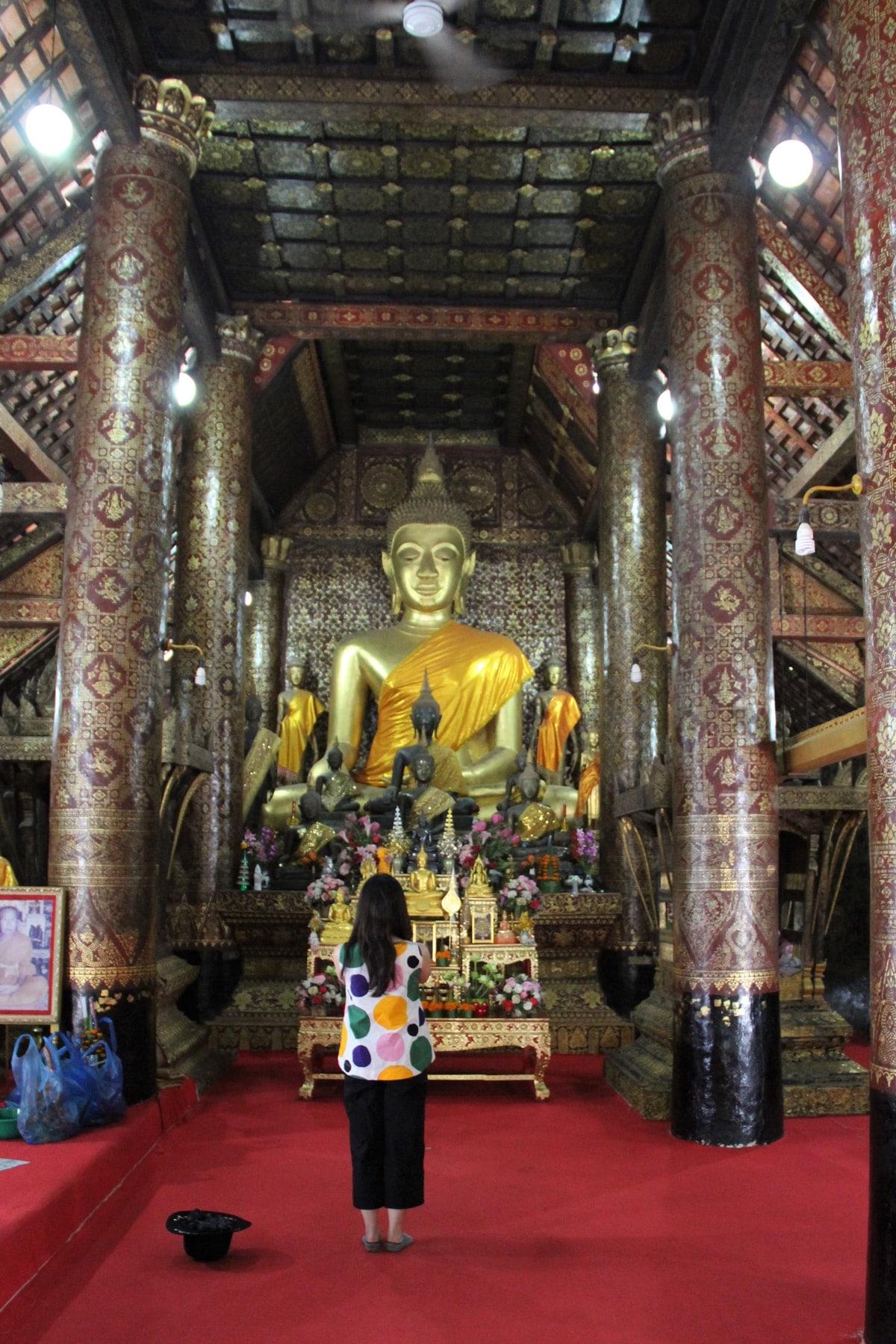 Interior of Wat Xieng Mouane Luang Prabang