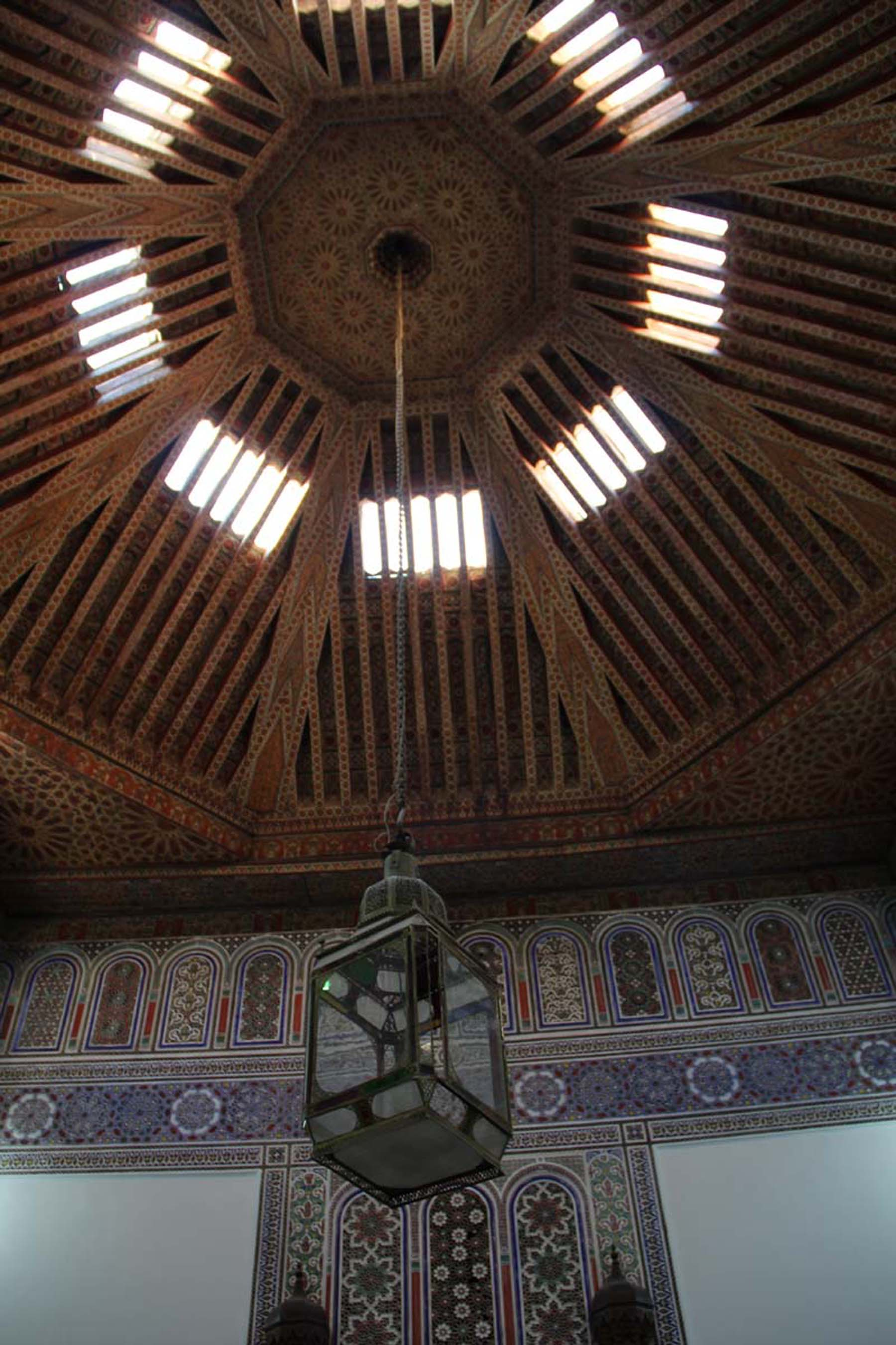 Ceiling lamp in Marrakech Dar Si Said