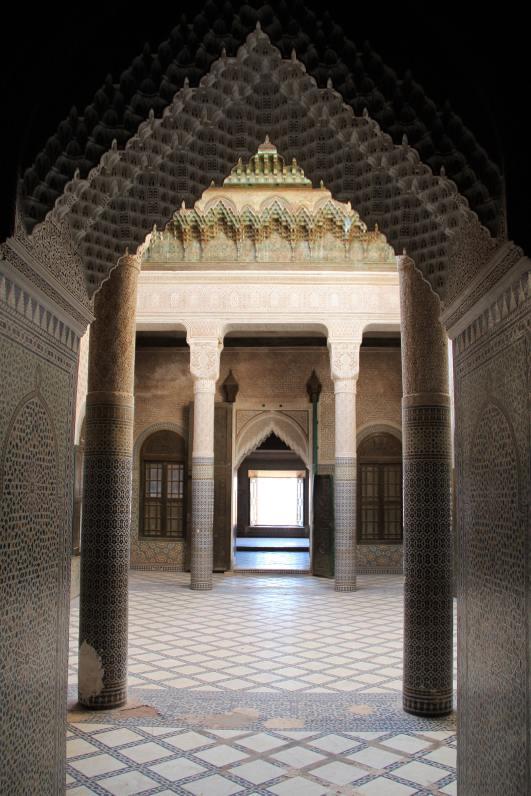 Porta della camera nuziale nella kasbah di Telouet