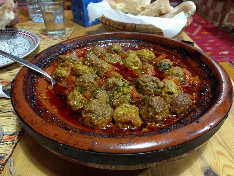 Una tajine kefta marocchina