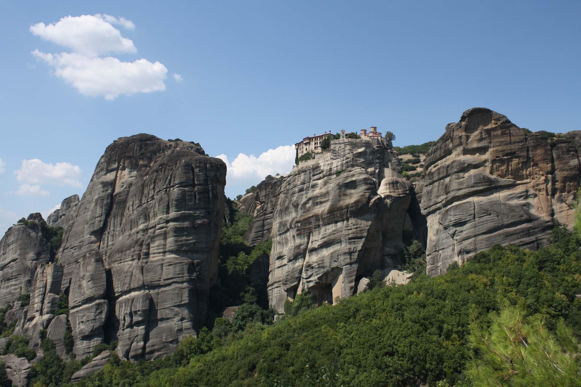 Monastères sur les rochers des Météores