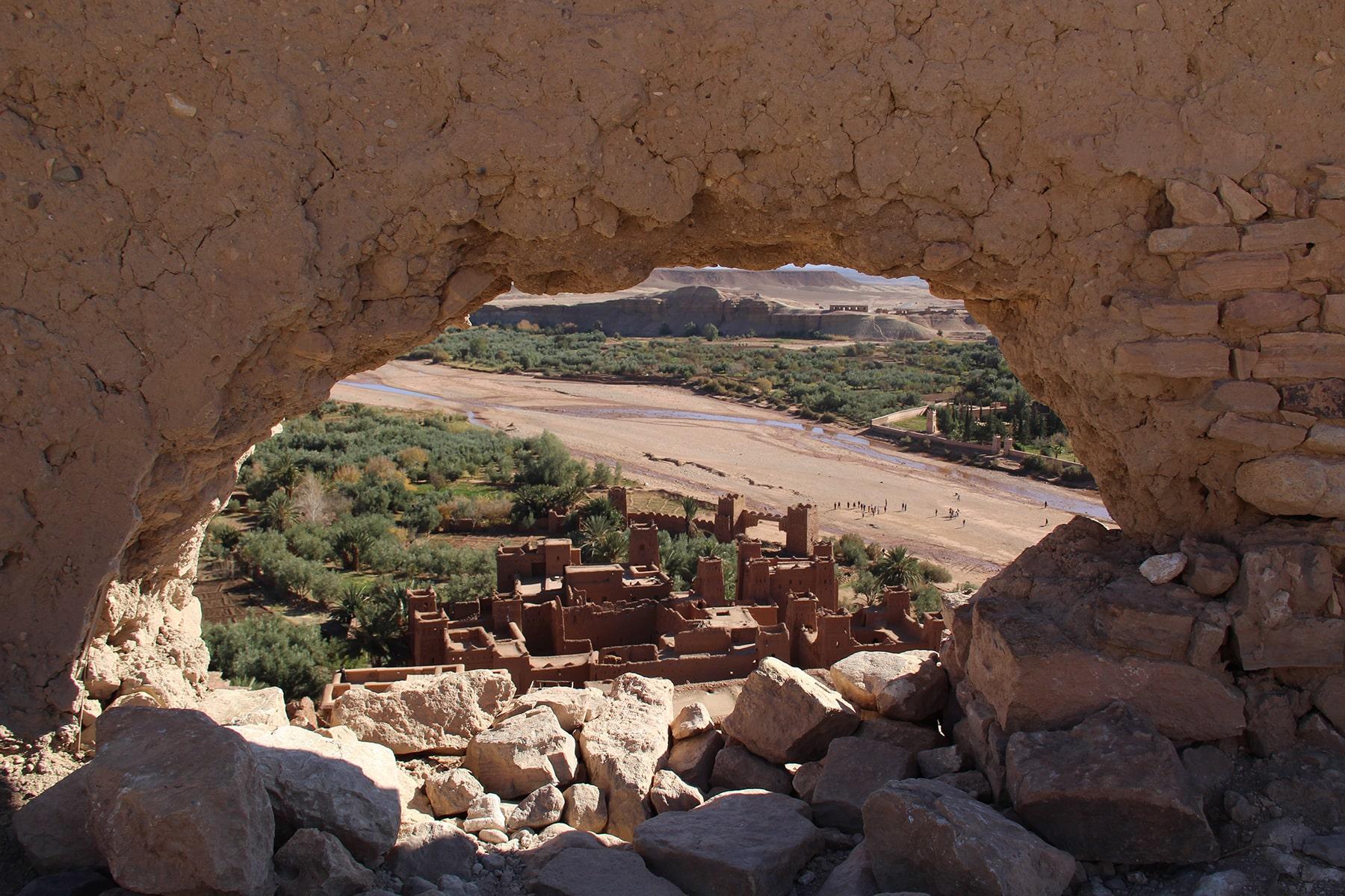 Vista dello ksar di Ait Benhaddou dal granaio