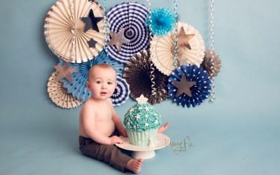 Shoreham Cake Smash Photography | Freddie 1st Birthday