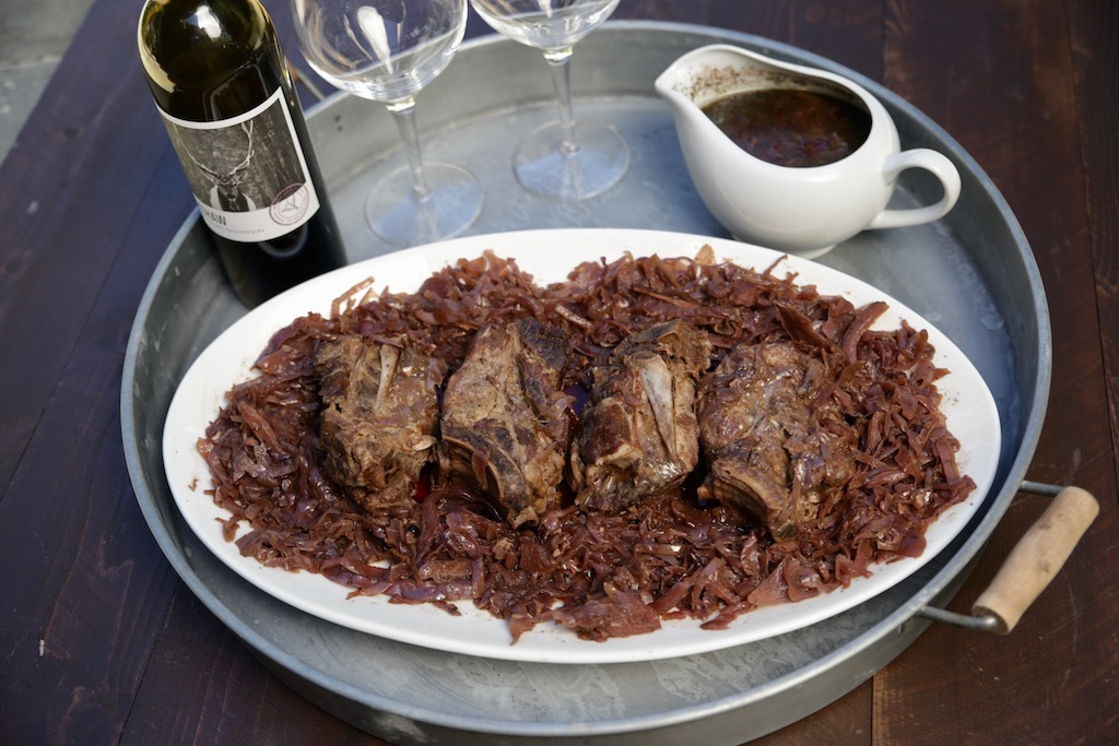 Braised Countrystyle Spareribs With Red Cabbage And