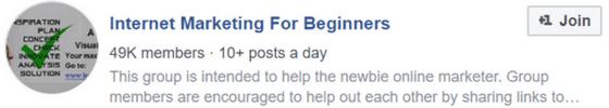 internet marketing for beginners facebook group