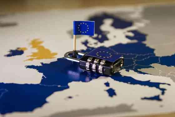 GDPR Checklist and Map with Lock.