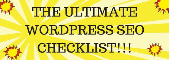 the ultimate wordpress seo checklist