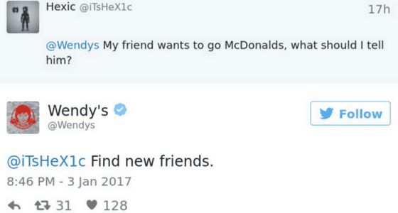 wendys twitter witty tweets social media discussion strategy for relevancy.