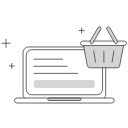 e-commerce web design illustration icon