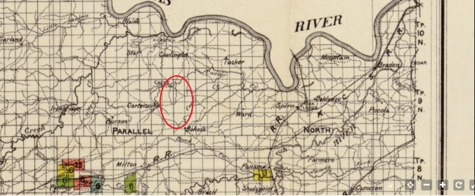 1900 Leflore county map for 2018 milo and rebecca bell dewitt blog post