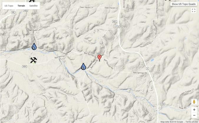 Bell Hardin post - bell springs map