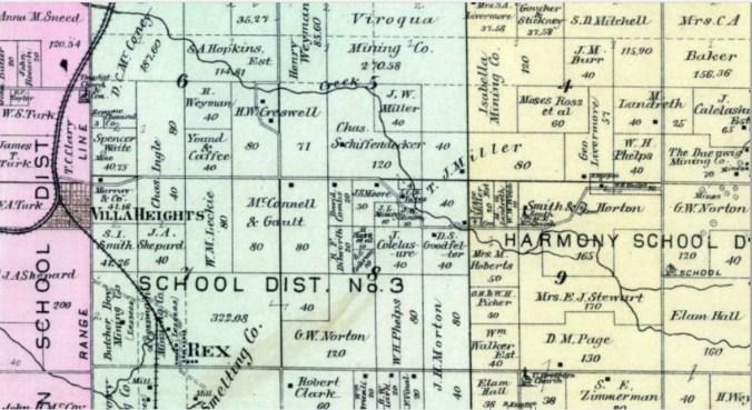 villa heights historical map