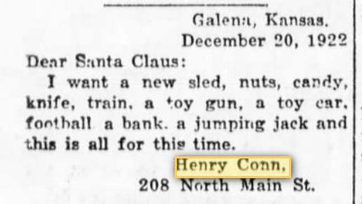 dear santa letter henry conn week 16