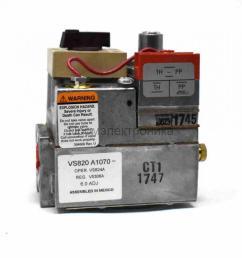 gas valve honeywell vs820a [ 958 x 970 Pixel ]