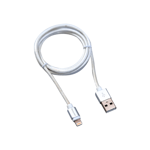 Charge & Sync Cable (Braided) – Silver