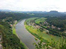 The Elbe river - left view