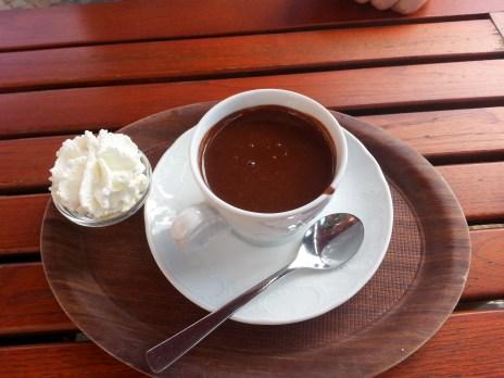 Belgium chocolate and cream
