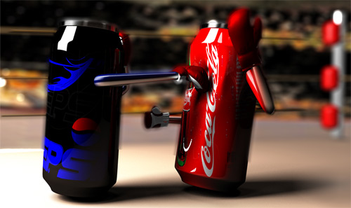 Coca Cola vs Pepsi wrestling.