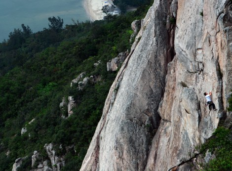 Christophe Toresse on Buddha's Birthday, Temple Crag