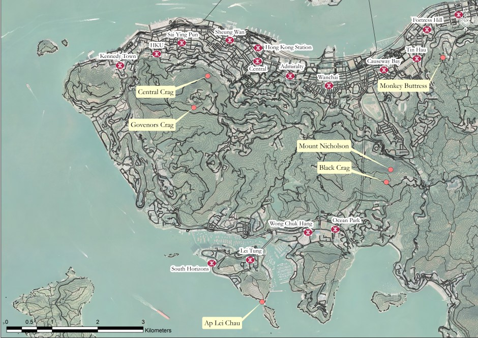 Crag Map - Central and Western