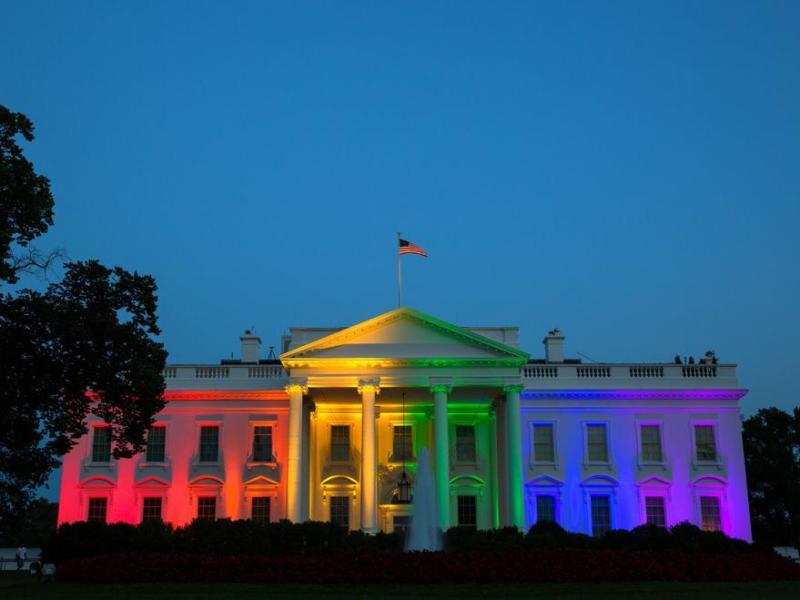 white house rainbow same sex marriage