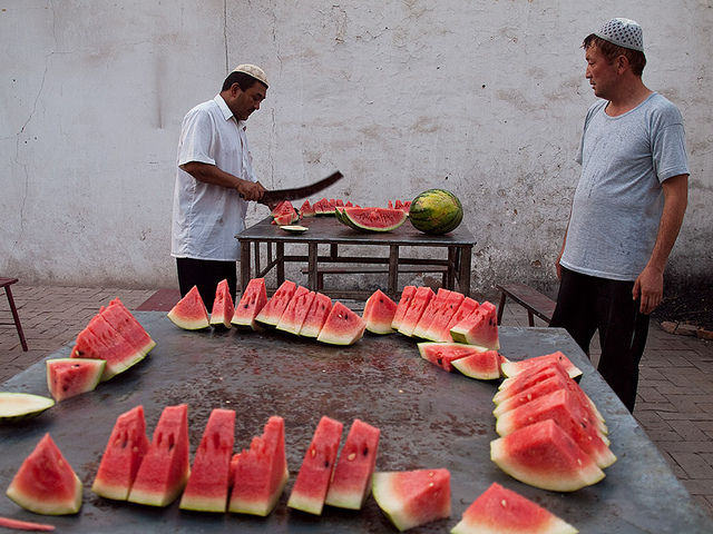 ramadan uyghur food watermelon xinjiang