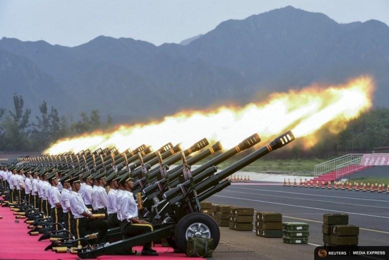 A gun salute team