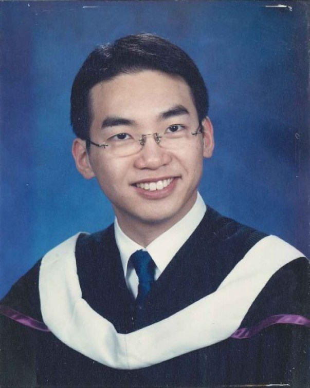 Alvin Yeung when he finished his undergraduate degree in 2002.