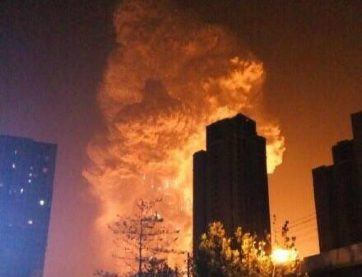 Tianjin explosion.