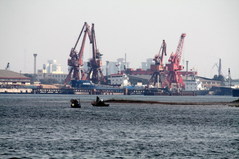 Tanggu's view of Tianjin Port.