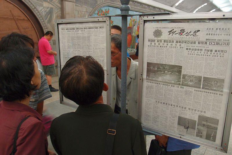 newspaper reading north korea