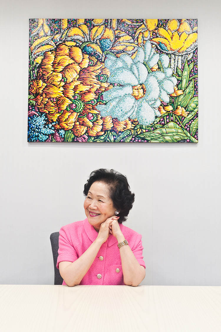 Anson Chan at her Causeway Bay office