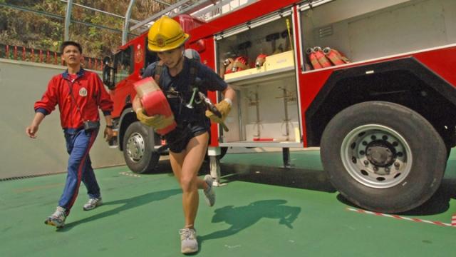 Firefighter fitness test