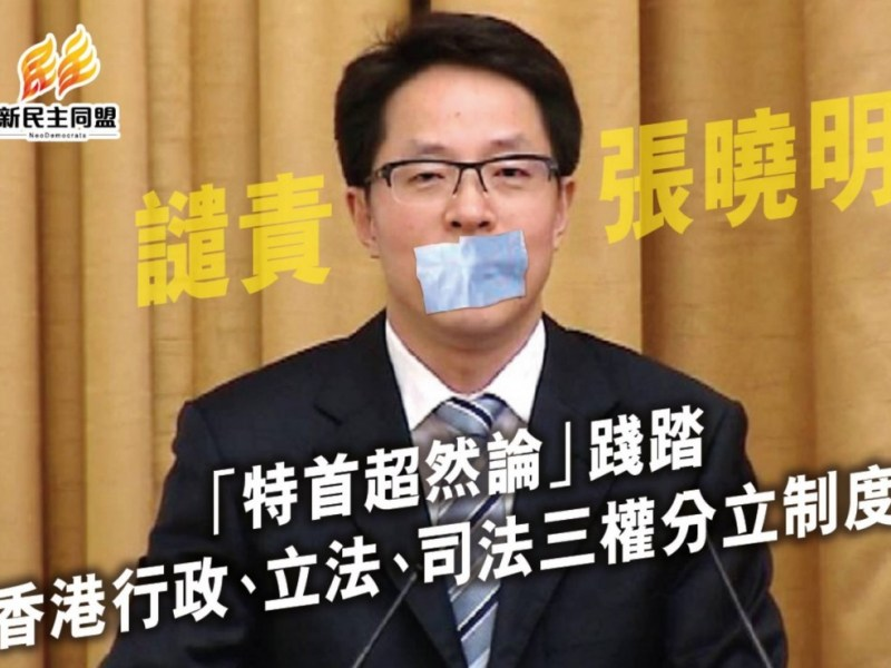 zhang xiaoming separation of powers comment