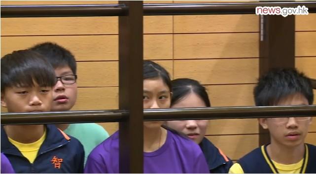 students mock court