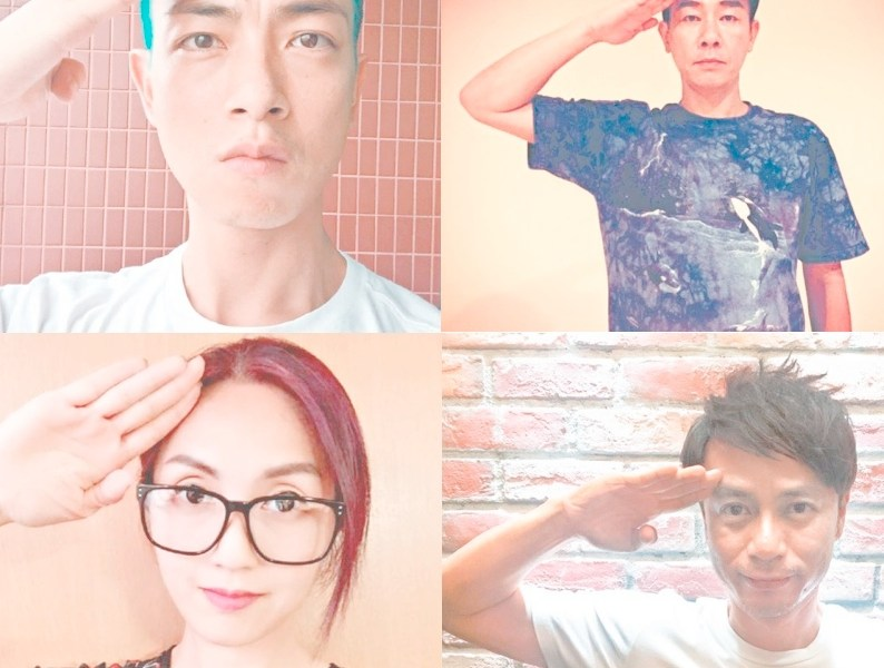 A number of Hong Kong artists upload salute photos during China's military parade on September 3.