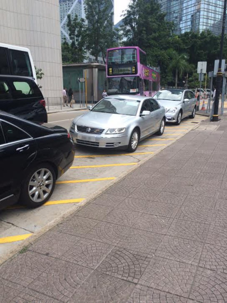 Illegal parking in Central, Hong Kong