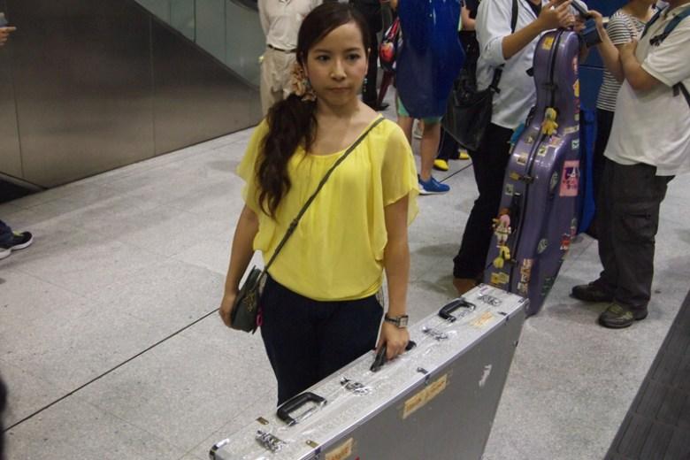 Mavis Lung with her yangqin.