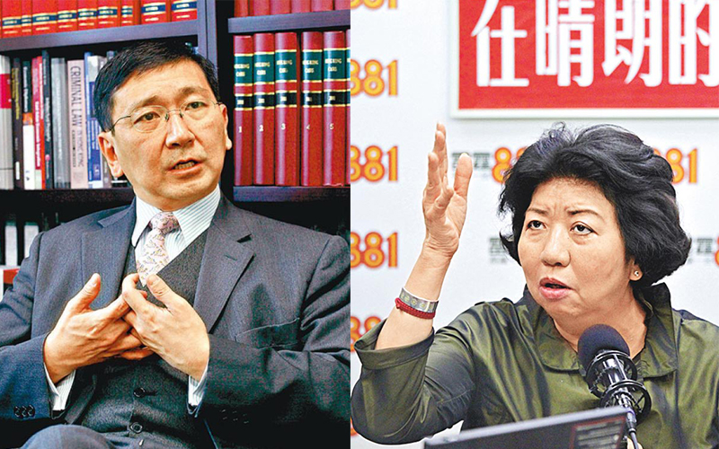 Johannes Chan (left) and Leonie Ki (right). File Photo: Apple Daily.