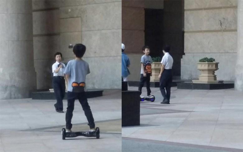 Hoverboard seen being used in Hong Kong