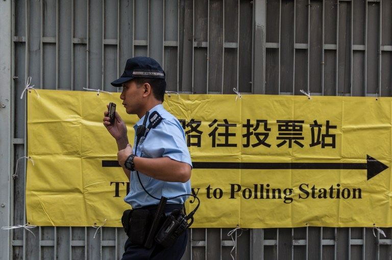 police district election