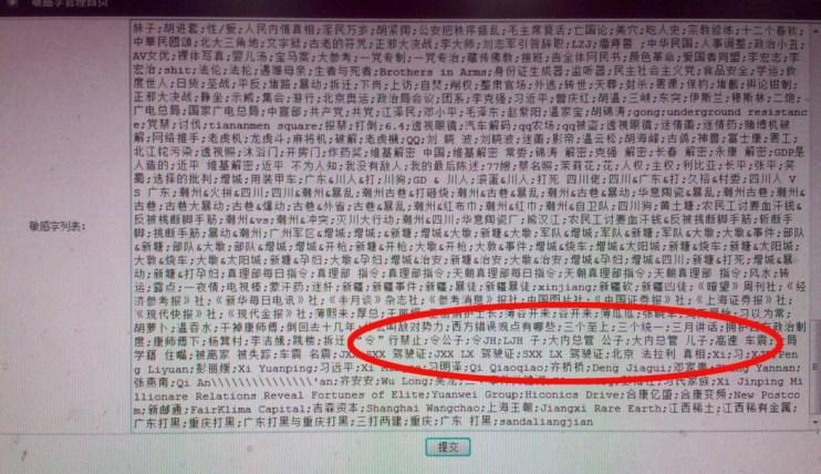 censored list