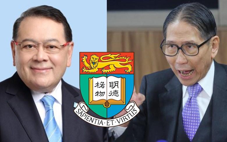 Abraham Shek (left) and Edward Leong. File Photo: Apple Daily.