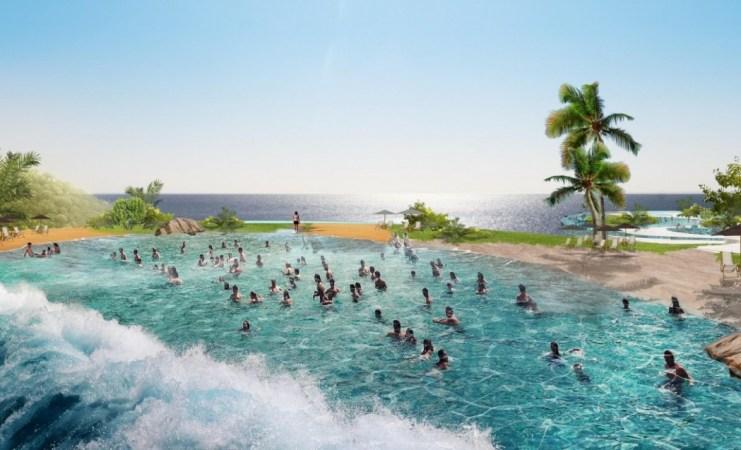 Blueprint for the new water park. Photo: Ocean Park.