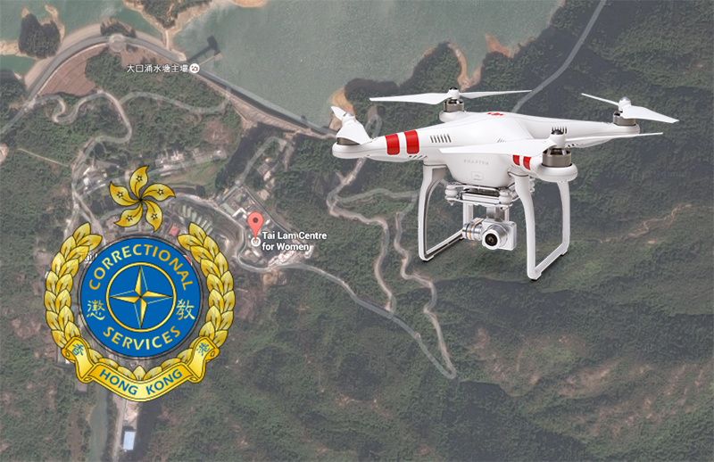 Drones were found flying over prison and dropped into them.