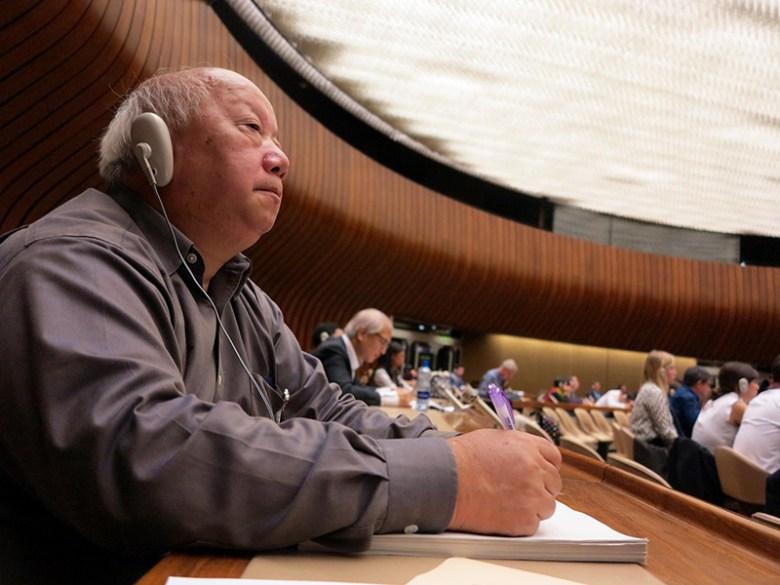 Hong Kong Human Rights Monitor director Law Yuk-kai.