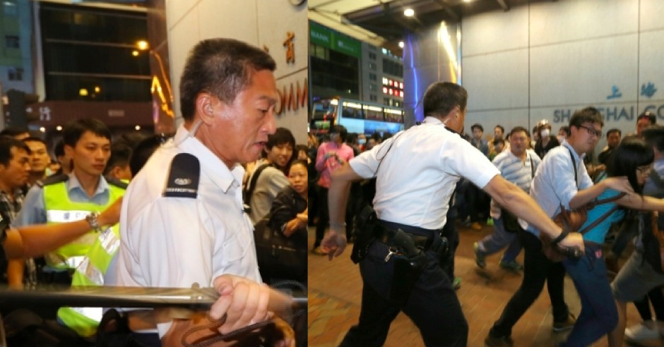 Franklin Chu King-wai was filmed hitting pedestrians with a baton.