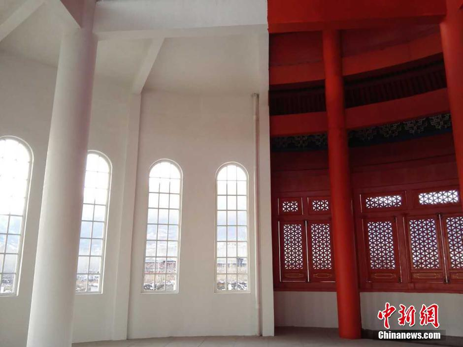 Interior of the hybrid building in Shijiazhuang in central China