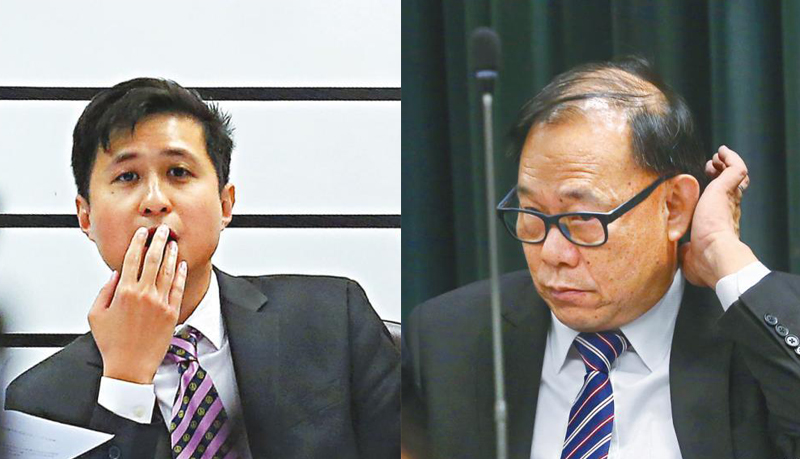 Wilson Shum Ho-kit (left) and Leung Che-cheung (right).