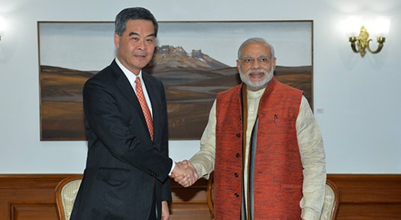 modi and cy leung india